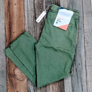 Sundry green boot cut Pants striped sides